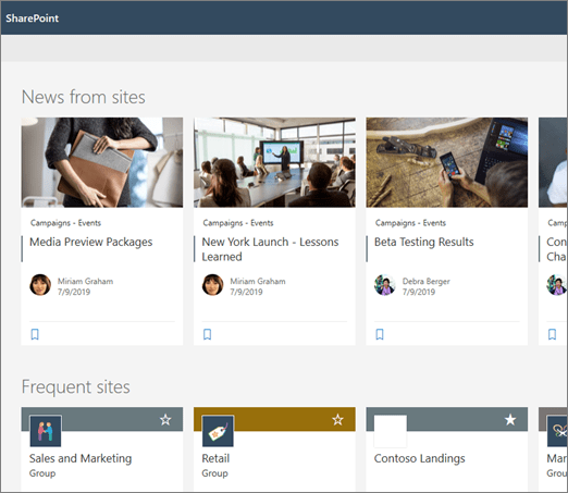 News on SharePoint start page