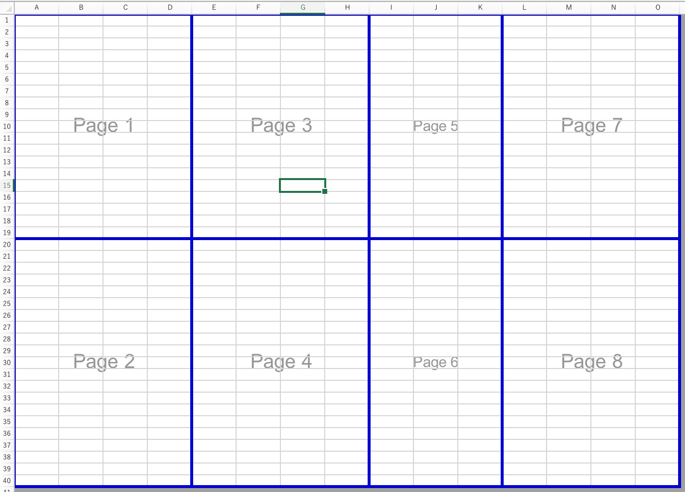 Create Manual Page Breaks In A Worksheet With Excel