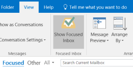 Outlook Focused Inbox feature - www.office.com/setup