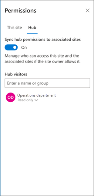 Sync visitors with the hub