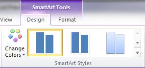 SmartArt Styles group on the Design tab under SmartArt Tools