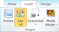 How to add clip art in Office 2010 and 2007 apps