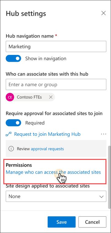 Hub permissions