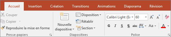 Surligneur de texte sur le ruban dans PowerPoint