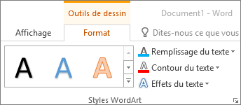 Groupe Styles WordArt