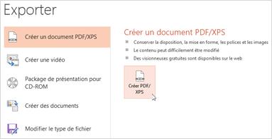 Enregistrer une présentation au format PDF