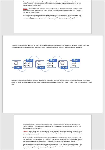 Une page en mode Paysage d'un document en mode Portrait vous permet d'ajuster sur la page des éléments larges, tels que des tableaux et des diagrammes