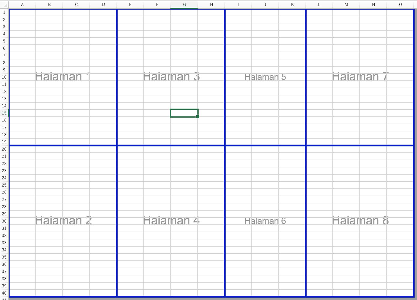 Membuat Hentian Halaman Manual Di Lembar Kerja Dengan