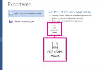 Opslaan of converteren naar PDF of XPS - Office-ondersteuning