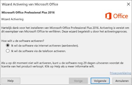 Office installeren of opnieuw installeren via het Home Use ...