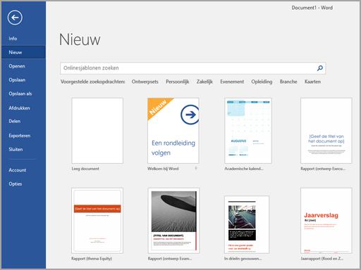 Gratis, kant-en-klare sjablonen downloaden - Office ...
