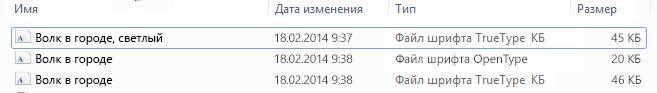 Шрифттер тізімі Шығарылған файлдағы.