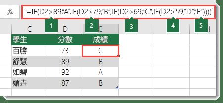 IF 函數 – 巢狀公式及避免易犯的錯誤 - Office 支援