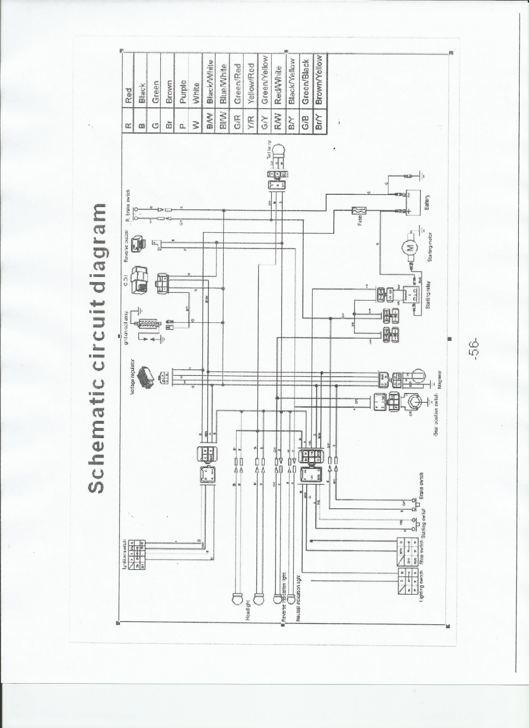 honda atv schematic diagram