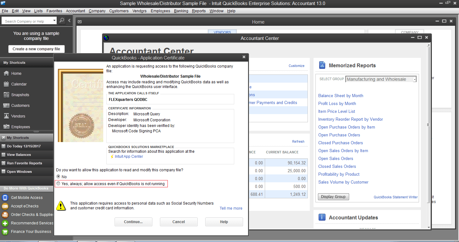 Qodbc Desktop How To Use Qodbc With Microsoft Excel