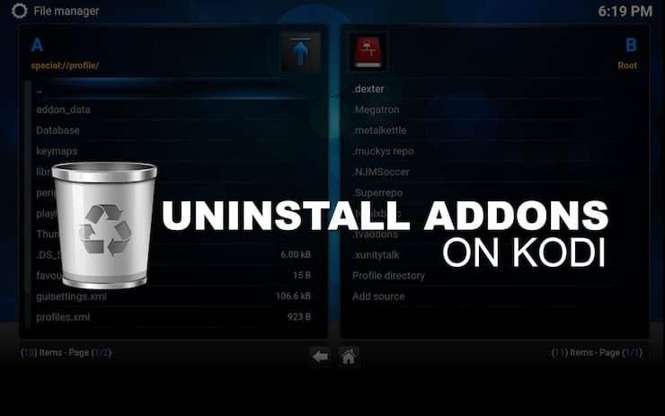 Uninstalling Removing Kodi Addons
