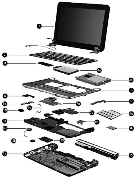 Hp Mini 2133 2140 Notebook Pc Spare Parts Customer Support