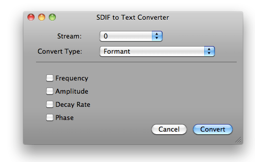 CONVERT SDIF TO PDF