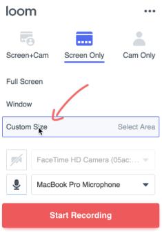 seleccionar modo captura / Loom comparativa pro vs gratis