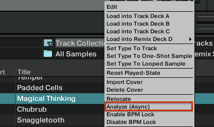 Analyze Track
