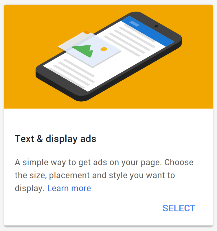 Text display ads