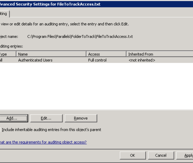 Now All Access Attempts Will Be Tracked In The Security Log Of Event Viewer