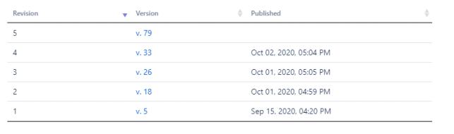 qc revision table macro displayed