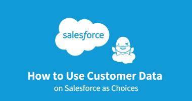 Salesforce の顧客データを選択肢として使用する