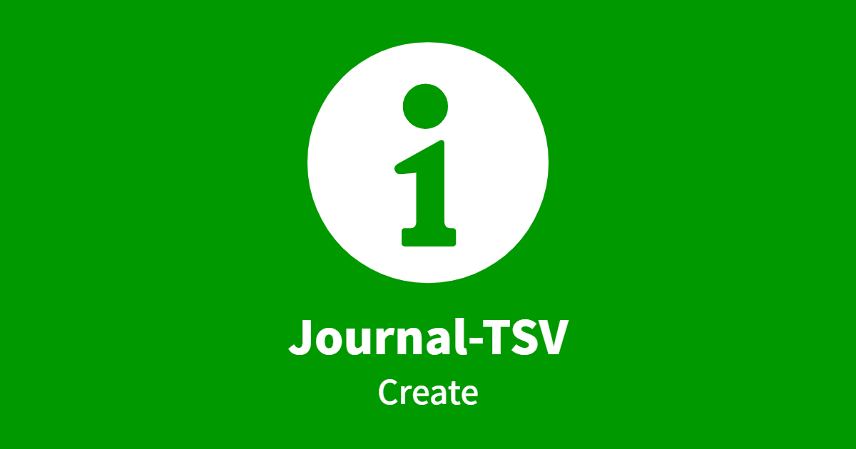 Journal-TSV Create