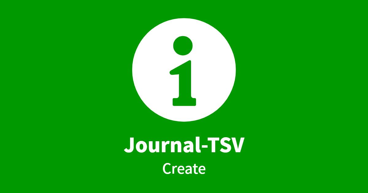 Journal-TSV Create