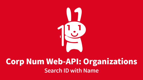 Corp Num Web-API: Organizations, Search ID with Name