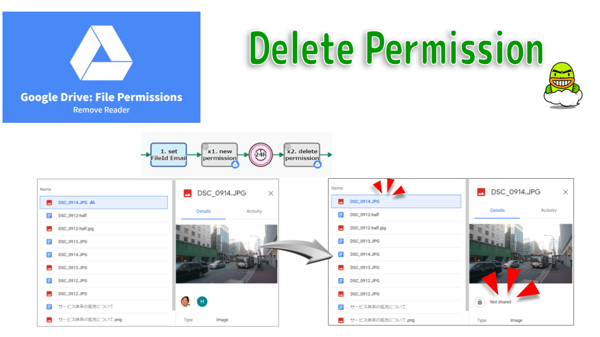 Deletes a Reader permission. The permissionId is required.