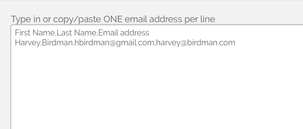 If I add or import two email addresses for a single contact, will