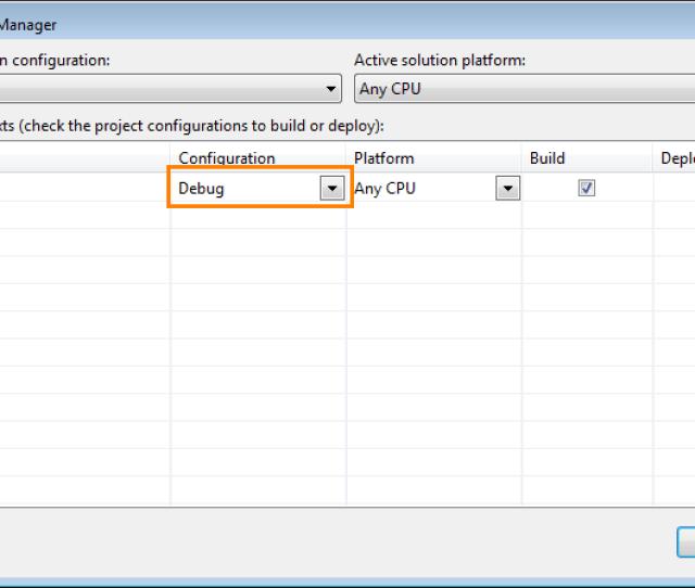 Configuration Manager Dialog