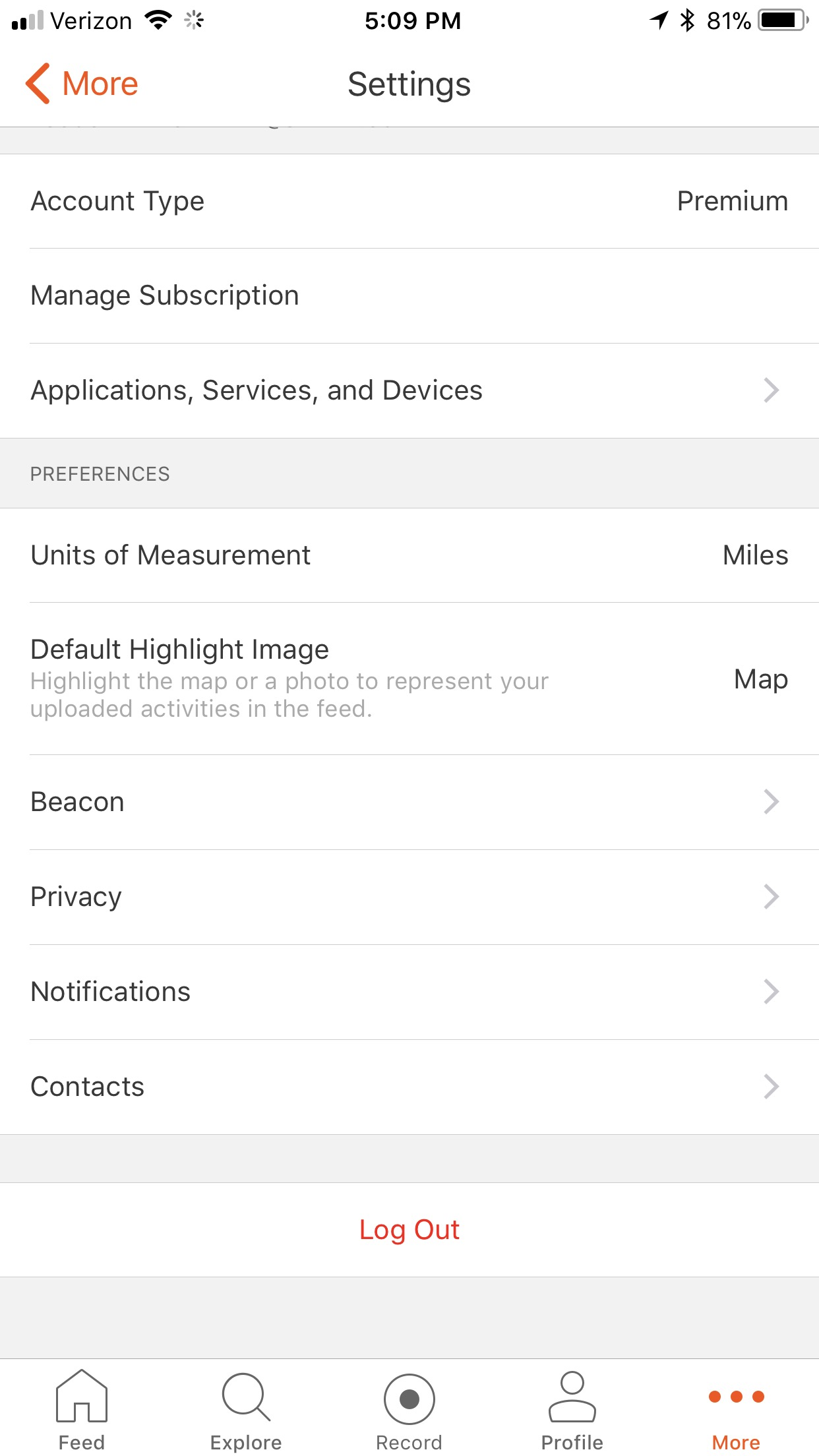Iphone App Settings Strava Support