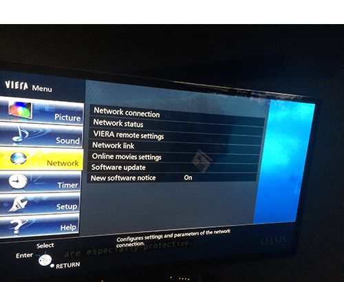 setting up panasonic tv or blu ray