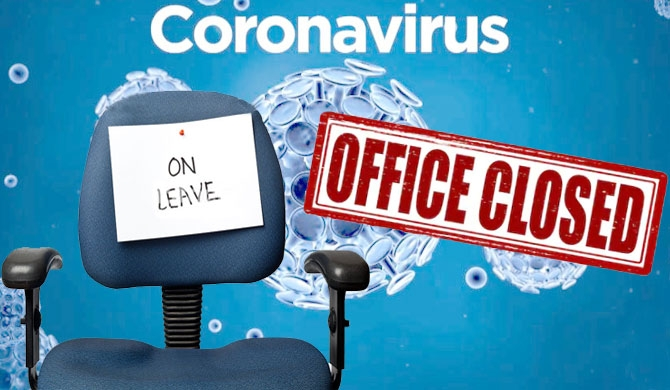 Coronavirus office closed