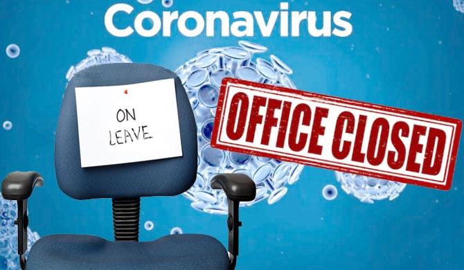 Coronavirus office closed