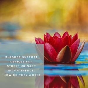 water lily to illustrate bladder support devices