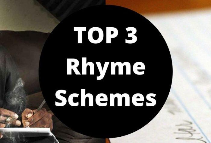 top 3 rhyme schemes