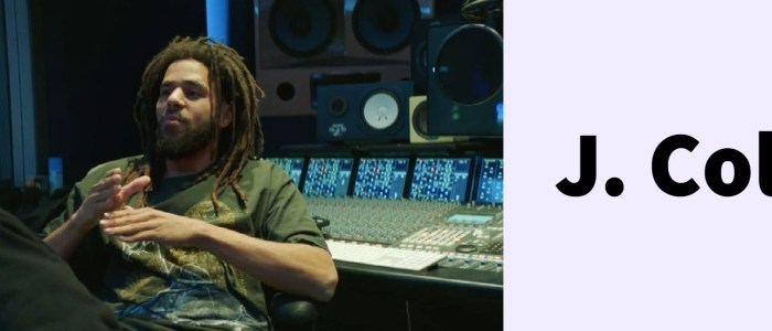 j cole in the studio cooking up