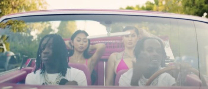 Rich The Kid and Polo G - Prada Remix in pink convertible