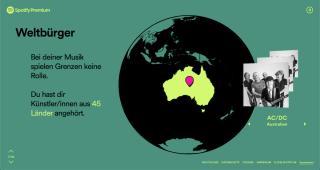 AC/DC auf Weltkarte, Pin in Australien