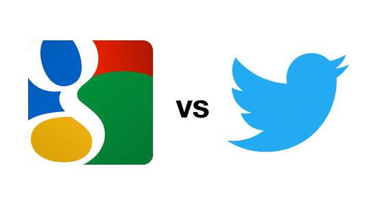 Twitter vs Google