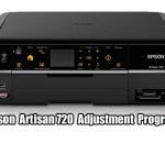 Epson Artisan 725 printer Adjustment Program