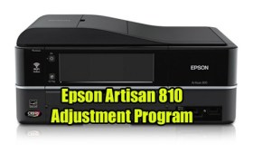 Epson Artisan 810 Adjustment Program