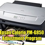Epson Colorio PM-G850 Adjustment Program ( Resetter )