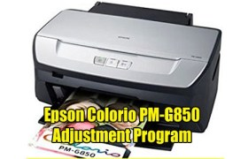 Epson Colorio PM-G850 Adjustment Program