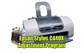 Epson Stylus C44UX Adjustment Program