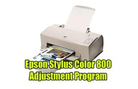 Epson Stylus Color 800 Adjustment Program